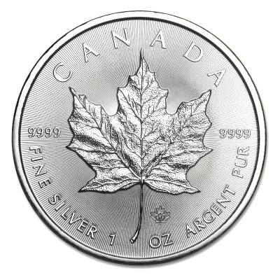 Silver coin Canadian Maple Leaf 1 oz (2014)