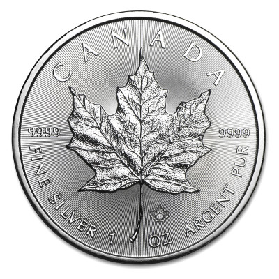 Silver coin Canadian Maple Leaf 1 oz (2017)