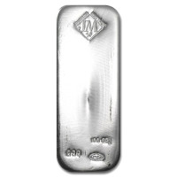 Silver bar Johnson Matthey 100 oz