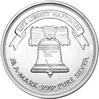 Silver rounds A-Mark Liberty Bell