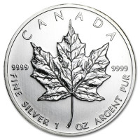 Silver coin Canadian Maple Leaf 1 oz (2010)