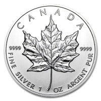 Silver coin Canadian Maple Leaf 1 oz (2012)