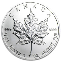 Silver coin Canadian Maple Leaf 1 oz (2013)