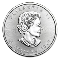 Silver coin Canadian Maple Leaf 1 oz (2015)
