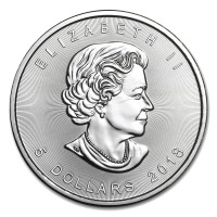 Silver coin Canadian Maple Leaf 1 oz (2018)