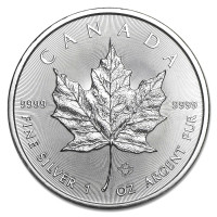 Silver coin Canadian Maple Leaf 1 oz (2019)
