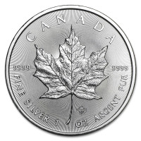 Silver coin Canadian Maple Leaf 1 oz (2020)