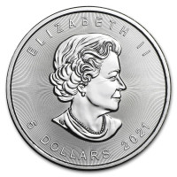 Silver coin Canadian Maple Leaf 1 oz (2021)