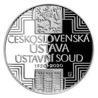 CNB silver coin CZK500 2020 Czechoslovak Constitution and Constitutional Court proof