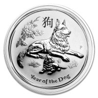 Silver coin Year of the Dog 1 oz (2018)