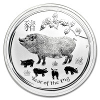 Silver coin Year of the Pig 1 oz (2019)