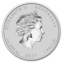 Silver coin Year of the Rooster 1 oz (2017)