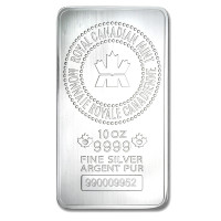 Silver bar Royal Canadian Mint 10 oz