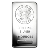 Silver ingot Sunshine Mint 10 oz