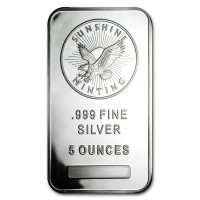 Silver ingot Sunshine Mint 5 oz