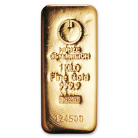 Gold bar Argor Heraeus 1000g
