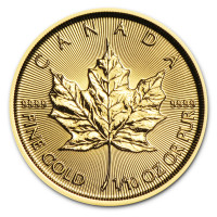 Gold coin Canadian Maple Leaf 1/10 oz