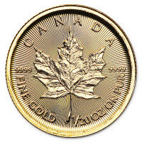 Gold coin Canadian Maple Leaf 1/20 oz