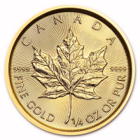 Gold coin Canadian Maple Leaf 1/4 oz