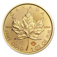 Gold coin Canadian Maple Leaf 1 oz