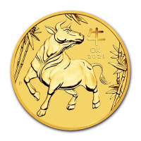 Gold coin Lunar III. Year of the Ox 1/10 oz (2021)