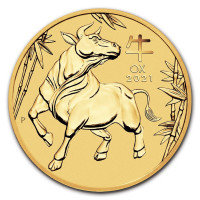 Gold coin Lunar III. Year of the Ox 1/4 oz (2021)